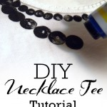 Guest Blogger - Necklace Tee Tutorial My Own Road - Pinterest Pic