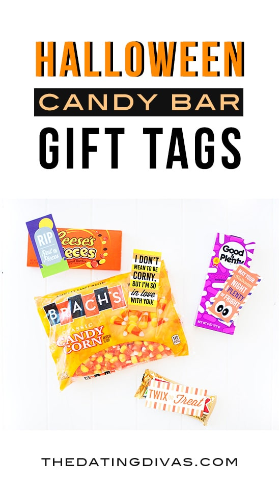 Halloween Candy Bar Gift Tags! Free printables from The Dating Divas