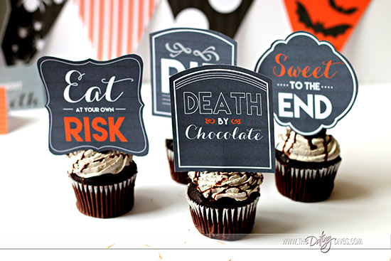 Halloween Party Cupcake Topper
