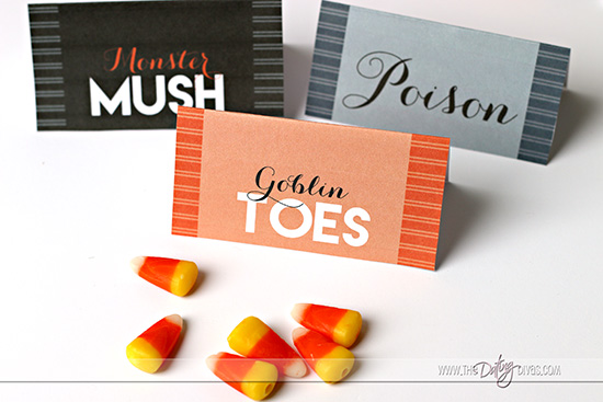 Halloween Party Food Labels