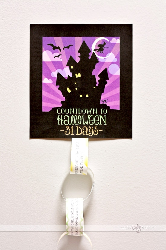 Halloween Countdown Chain
