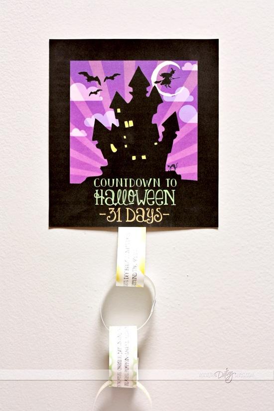 Halloween Countdown Chain