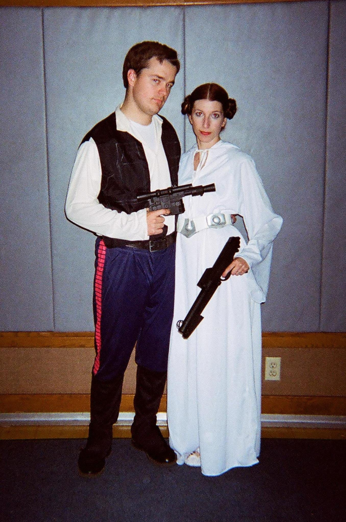 Kari-2011 Halloween-Hans Solo & Princess Leia