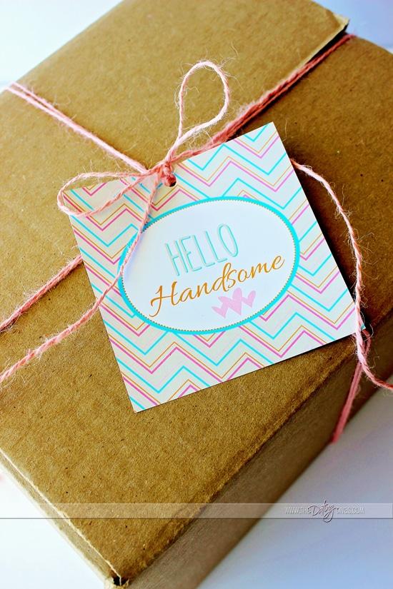 Hello Handsome Valentine Gift Tag