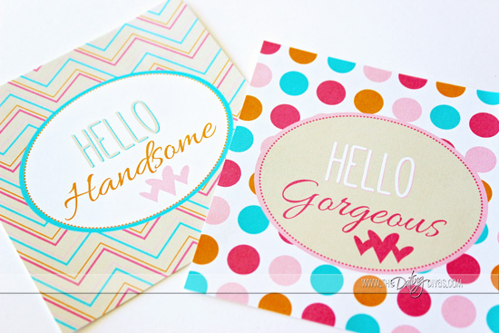 Hello Handsome Gift Tags