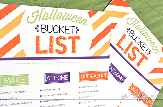 Free Printable Halloween Bucket Lists