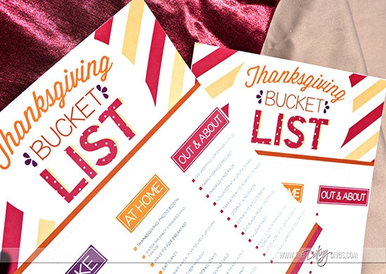 Free Printable Thanksgiving Bucket List