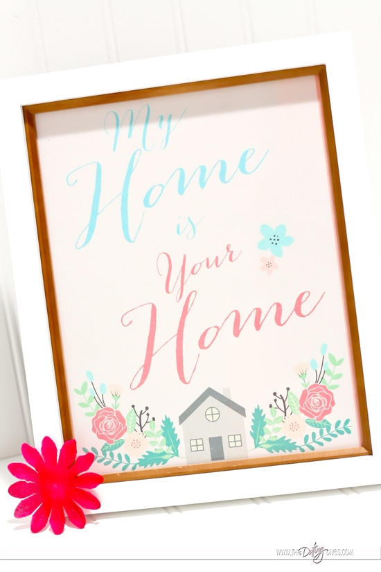My home is your home art piece.