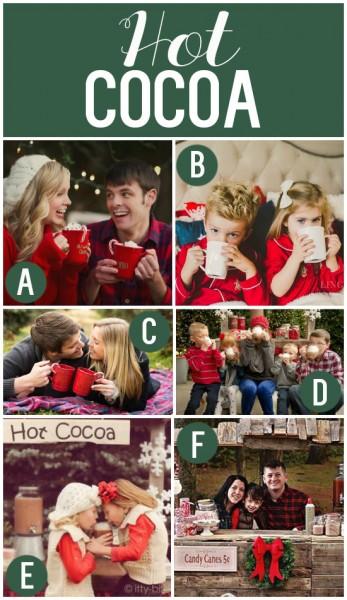 Hot Cocoa as a Christmas Photo Prop