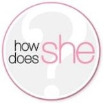 How Does She logo