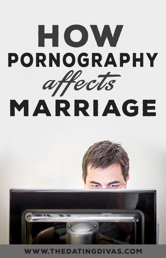 Man looking at a computer with the title How Pornography Affects Marriage overhead