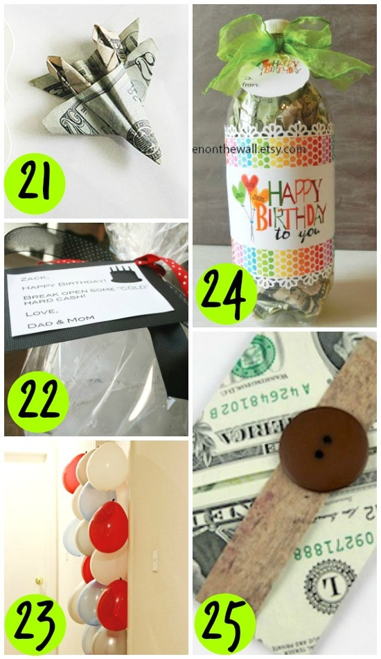 Birthday Present Money Ideas