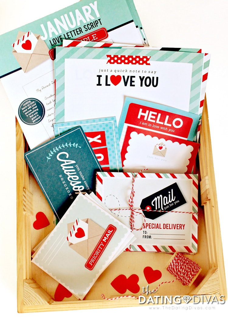 Printable Love Letters and Envelopes