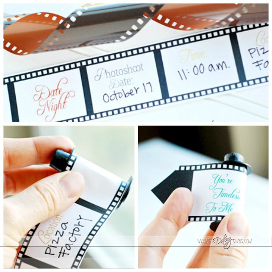 How to make a film roll invitation