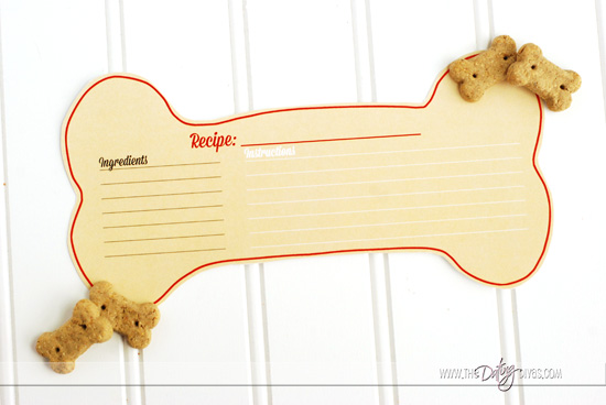 Hug Your Hound Blank Recipe Card