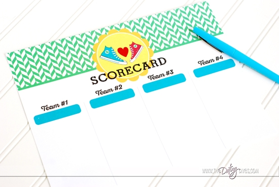 If the Shoe Fits Game Scorecard