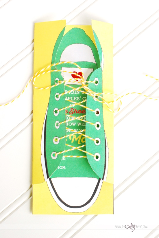Converse Tennis Shoe Invitation
