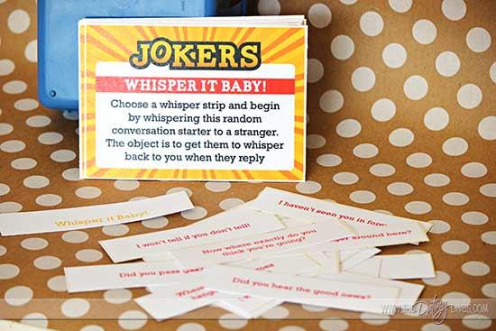 Impractical Jokers Whisper Cards