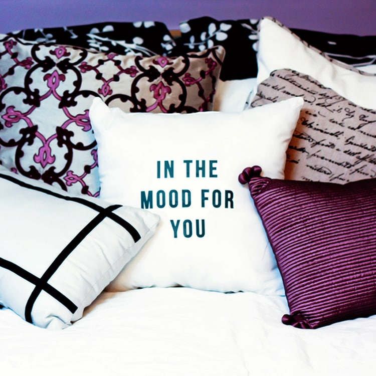 Seduce your spouse with this pillow
