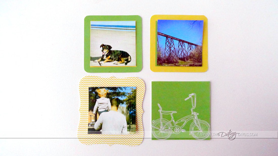 Framed Instagram Pictures in Yellow and Green