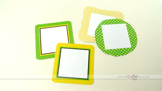 Printable Instagram Frames in Green and Yellow