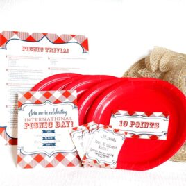 outdoor picnic date with activity and free printables
