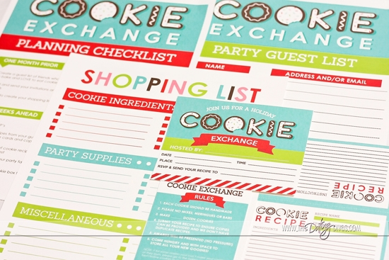 Cookie Exchange Party Printable Pack By The Dating Divas