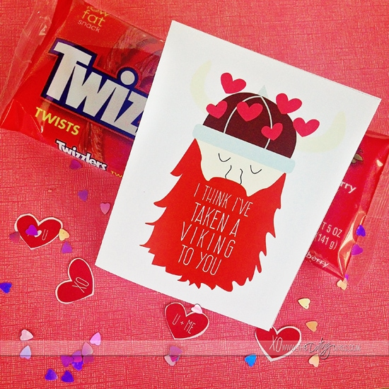 I've taken a viking to you! ADORABLE DIY cards for your spouse from thedatingdivas.com