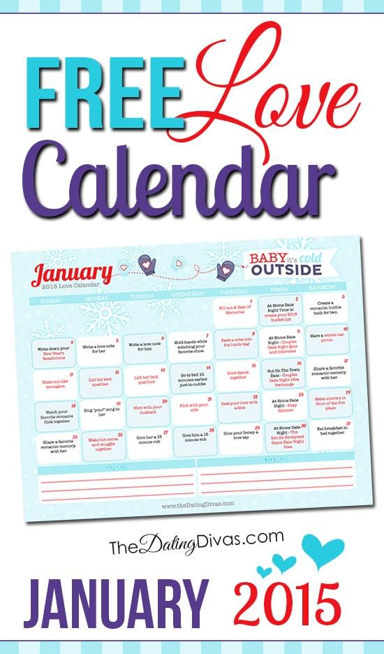 January Love Calendar 2015