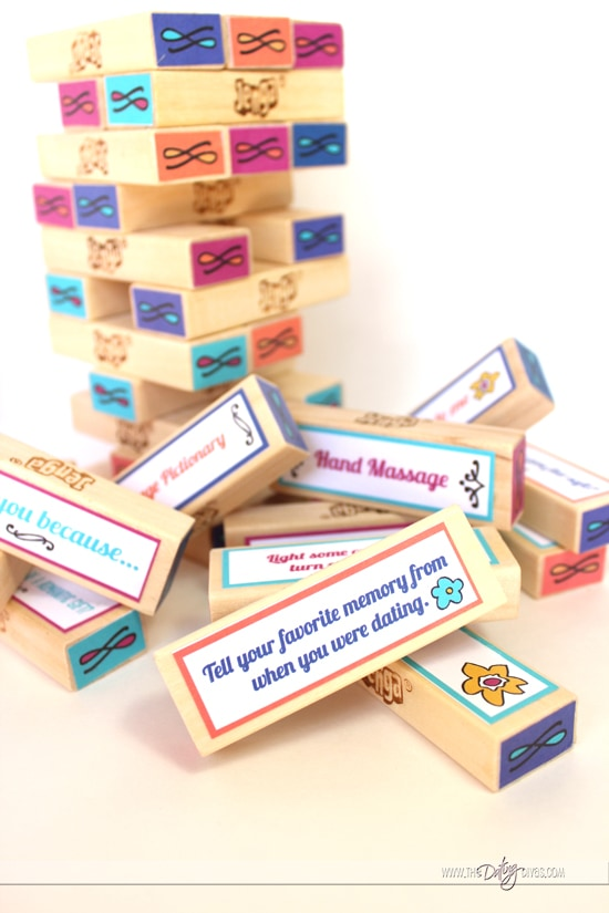 Jenga Love Game Blocks