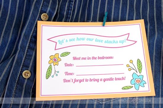 Jenga Love Game Invite Printables