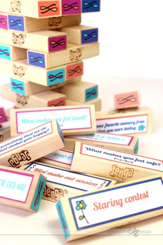 Jenga Love Game Blocks