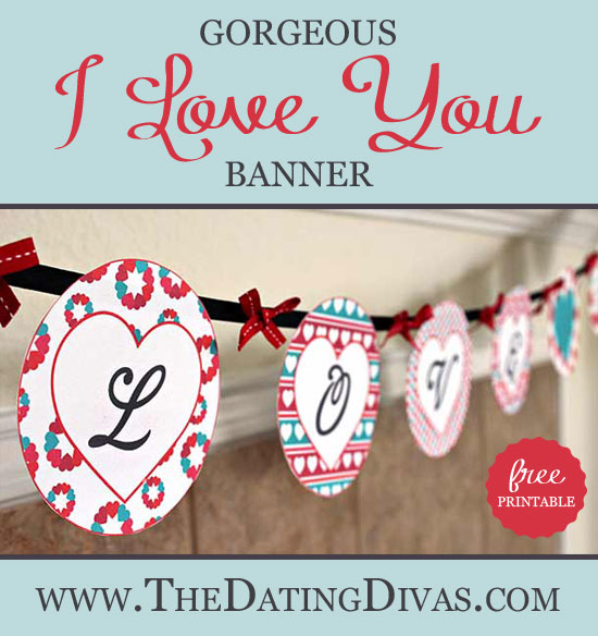 picture about Valentine Banner Printable known as I Appreciate Your self\