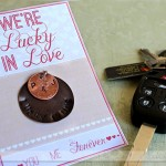 """Lucky in Love"" DIY Keychain"