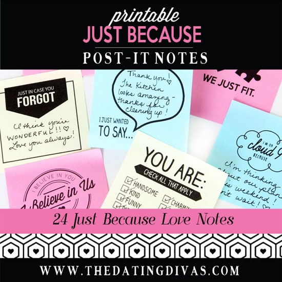 Just Because Post-It Love Notes