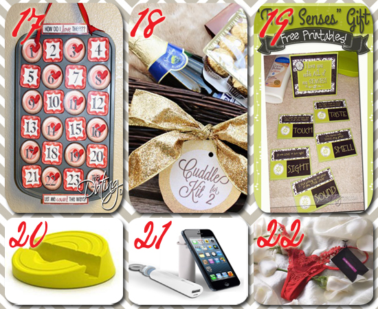 photo collage of 6 cheap valentines day gifts
