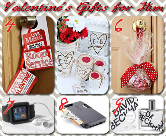 collage of inexpensive valentine gifts for husband