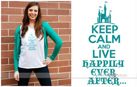 Keep Calm and Live Happily Ever After Shirt Idea