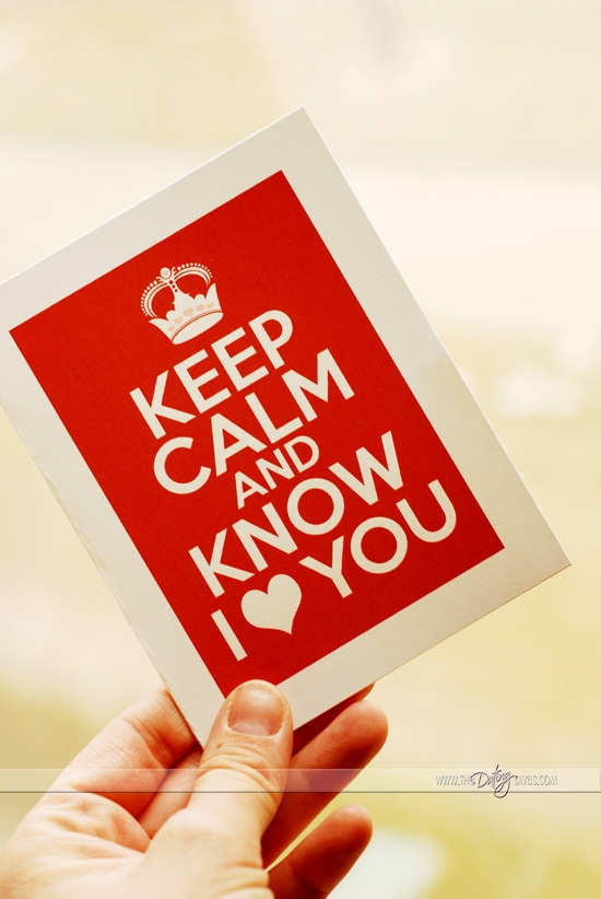 Keep Calm Card