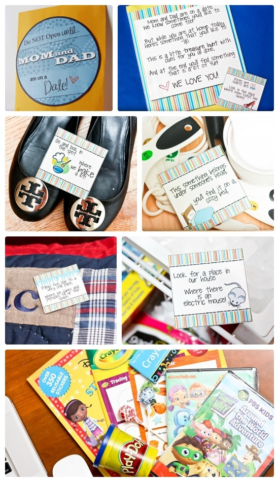 Printable Kids Date Night Scavenger Hunt
