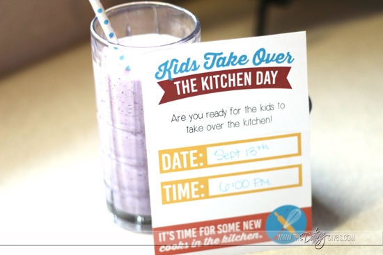 Kids Take Over The Kitchen Day Invitation