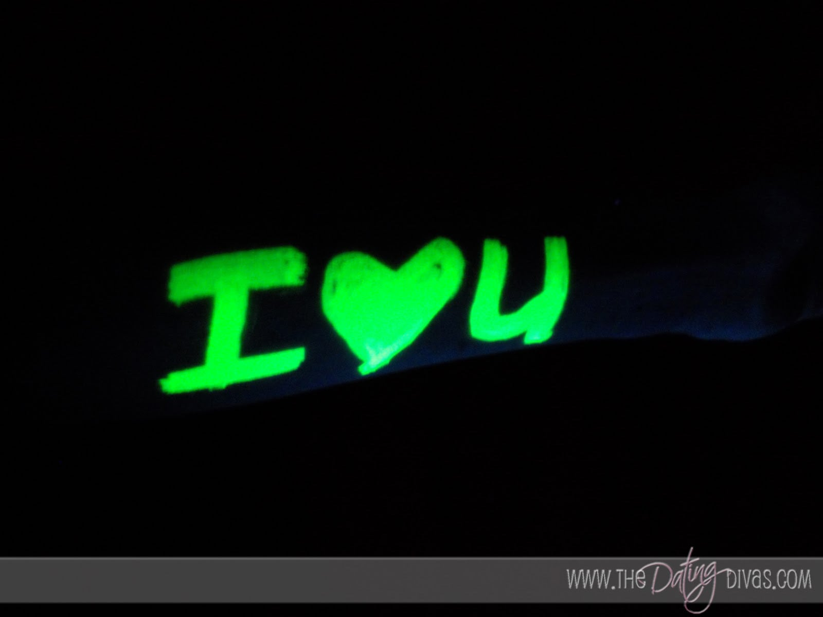 Glowing Love Note from Picasso Night