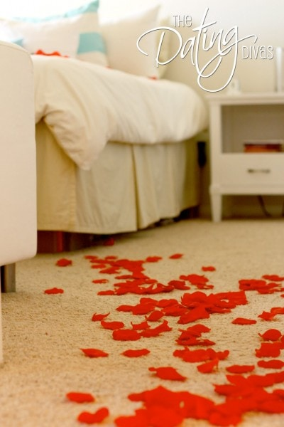 Romantic Rose Petal Trail to Bed