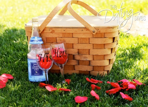 Romantic Picnic with Rose Petals
