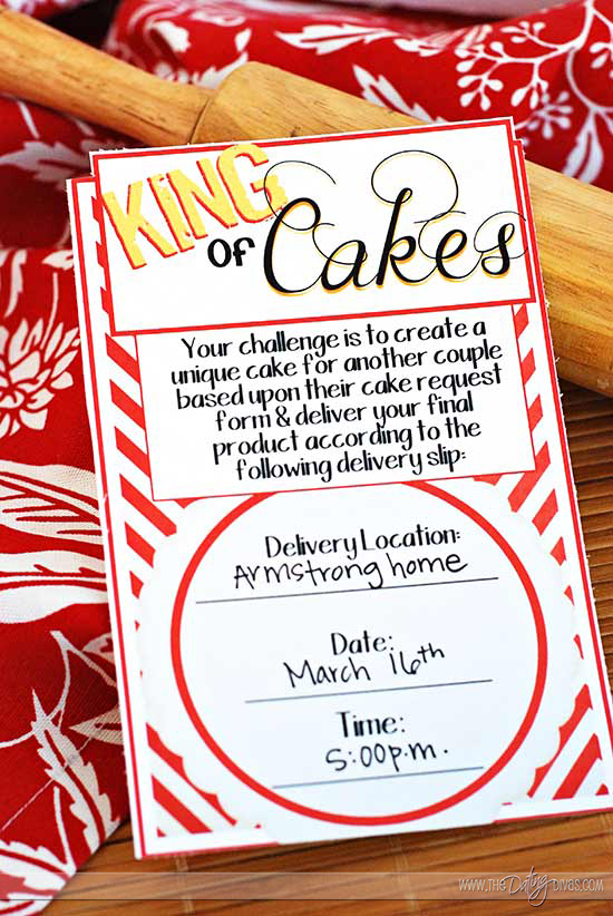 Cake Date Night Invitation