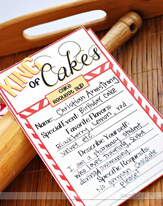 Cake Decorating Date Night Design Form