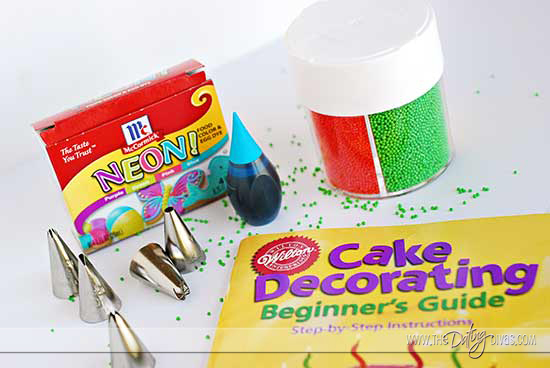 Cake Decorating Date Night Idea Supplies
