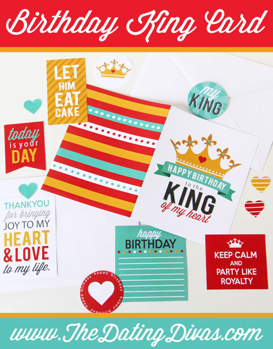 King of My Heart DIY Birthday Card
