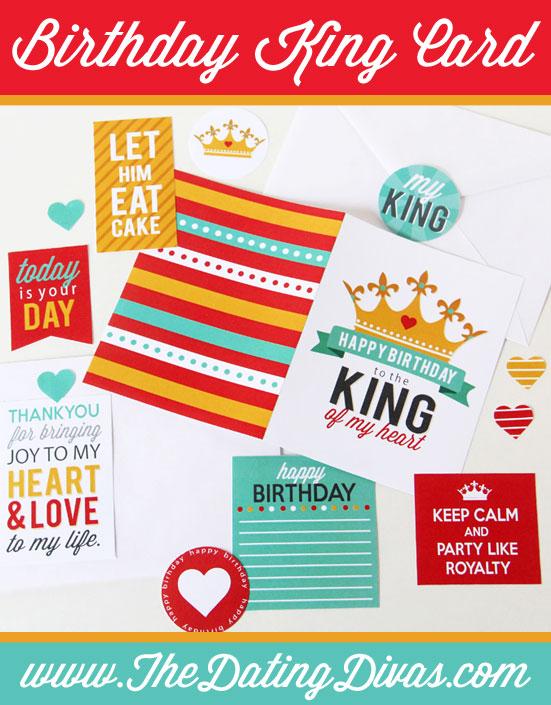 King of My Heart DIY Birthday Card