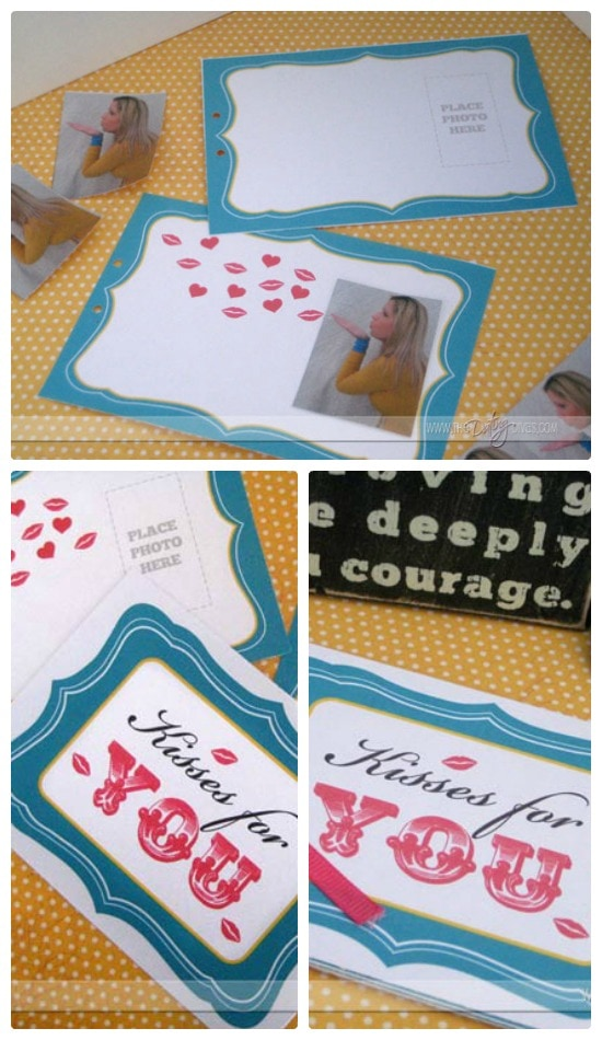 Long Distance Idea Kiss Flip Book Collage